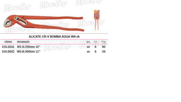 Alicate CRV Bomba Água WS IA