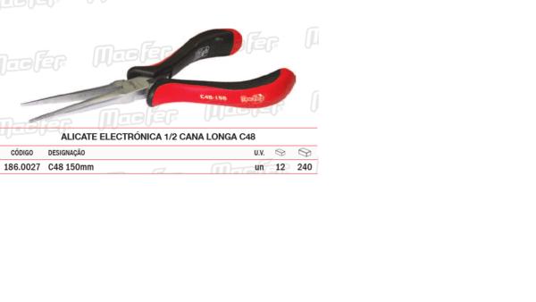 Alicate Electrónica Meia Cana Longa C48