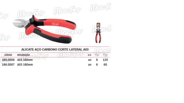 Alicate Aço Carbono Corte Lateral A03