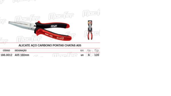 Alicate Aço Carbono Pontas Chatas A05