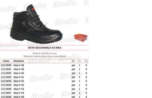 Sapatos protecção