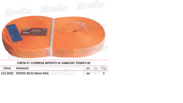 Cinta P/ Correia Aperto S/ Gancho TD 505T 50 5T 50mm x 9MT
