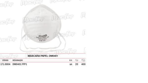 Máscara Papel DM 0401