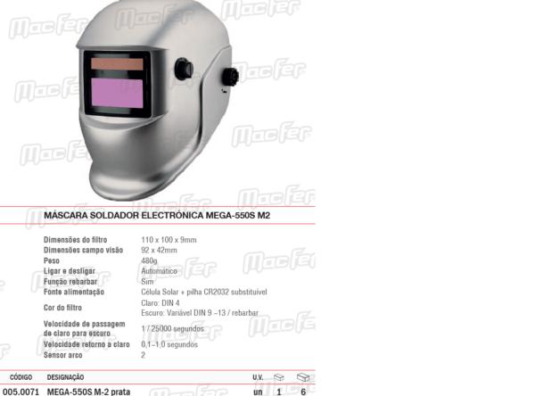 Máscara Soldador Electrónica
