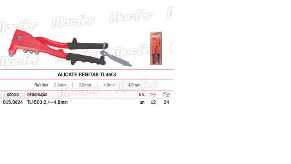 Alicate Rebitar TL 4503