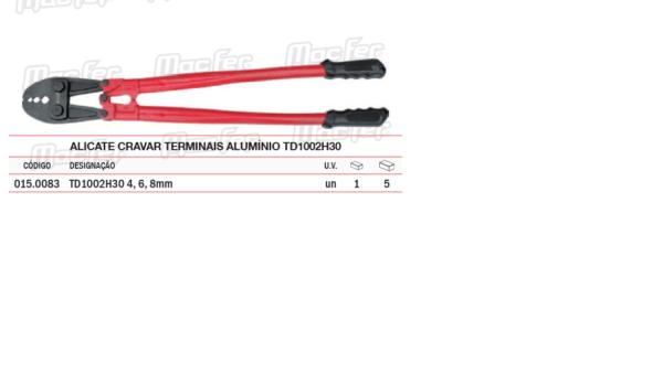 Alicate Cravar Terminais Alumínio TD 1002H30