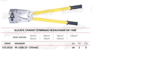 Alicate Cravar Terminais Hexagonais HX150B