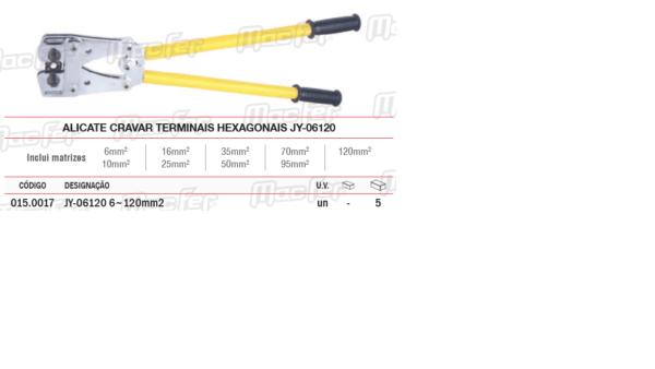 Alicate Manual Cravar Terminais Hexagonais JY06120