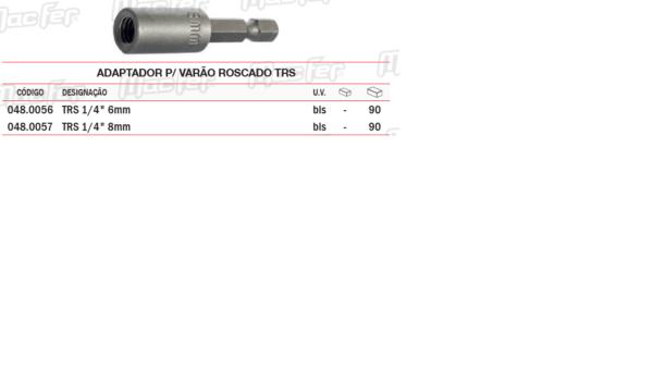 Adaptador P/Varão Roscado TRS 6mm