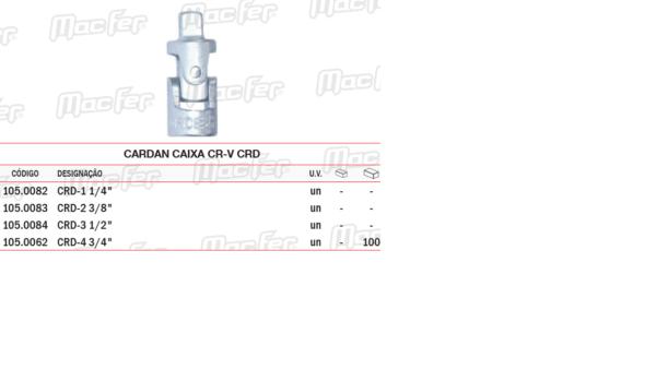 Cardan Caixa CR V CRD 1/4