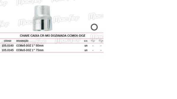 Chave Caixa CR MO Dozavada CCMO5 DOZ 75mm