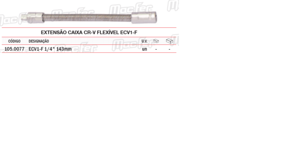 Extensão Caixa CR V Flexível ECV1 F