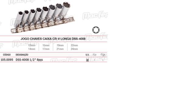 Jogo Chaves Caixa CR V Longa DSS 4008