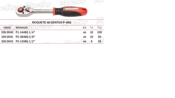 Roquete 48 Dentes P48Q 3/8