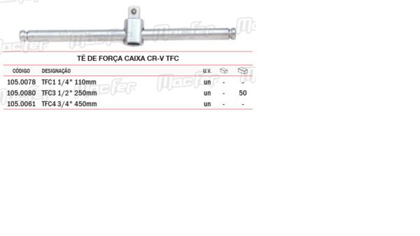 Tê De Força Caixa CR V TFC 1/2 250mm