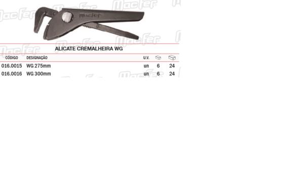 Alicate Cremalheira WG 14 x 275mm