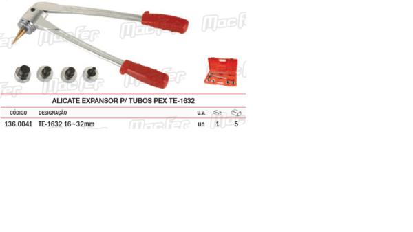 Alicate Expansor Para Tubos PEX TE 1632