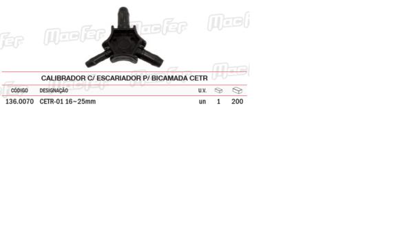Calibrador Com Escariador Para Bicamada CETR