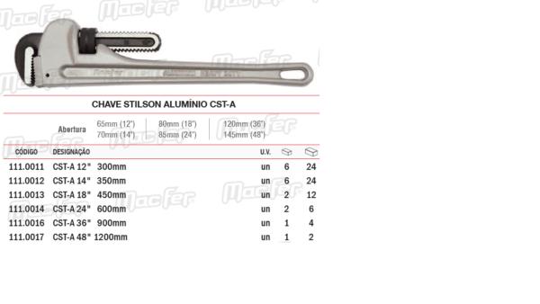 "Chave Stilson Alumínio CST A 14"" x 350mm"