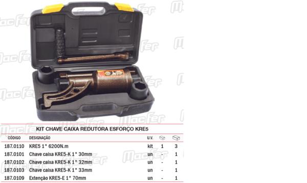 Kit Chave Caixa Redutora Esforço KRE5