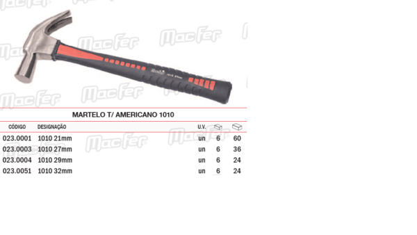 Martelo Tipo Americano 1010 27mm