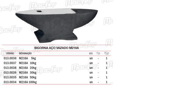 Bigorna Aço Vazado M216A 10Kg