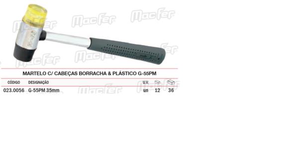 Martelo Com Cabeças Borracha & Plástico G55PM