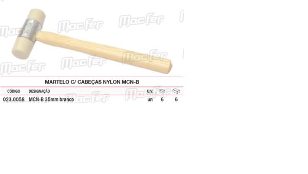 Martelo Com Cabeças Nylon MCN B