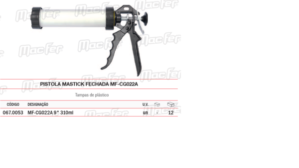 Pistola Mastick Fechada MF CG022A