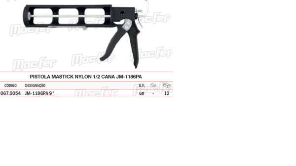 Pistola Mastick 1/2 Cana JM 1186 PA
