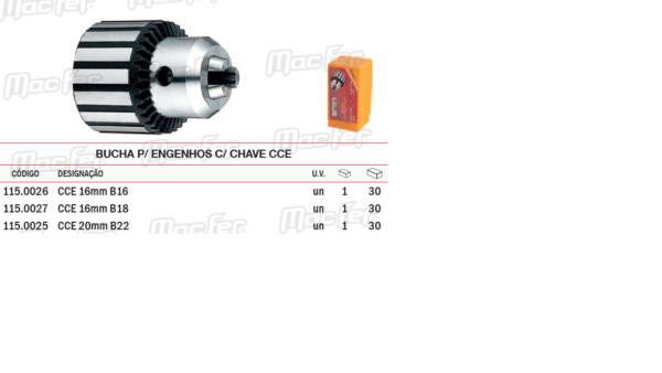 Bucha Para Engenhos Com Chave CCE 20mm B22