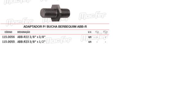 Adaptador Para Bucha Berbequim ABBR 3/8 X 3/8