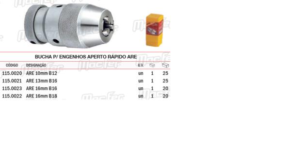 Bucha Para Engenhos Aperto Rápido ARE 13mm B16