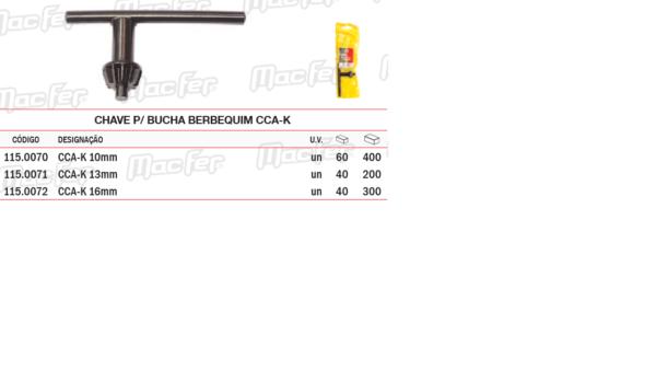 Chave Para Bucha Berbequim CCAK 16mm