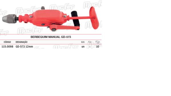 Berbequim Manual GD 573