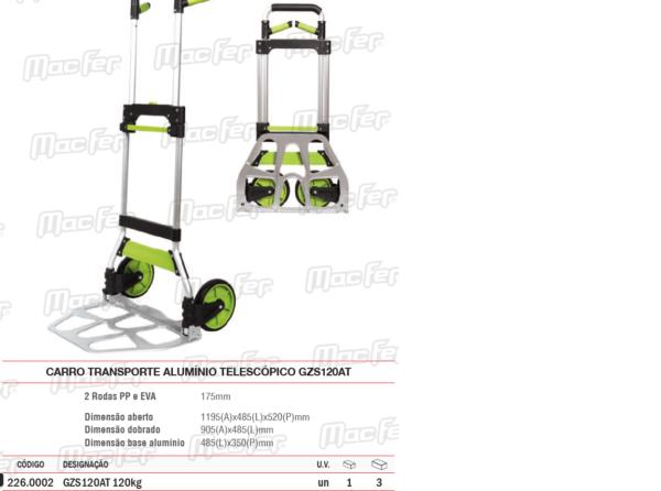 Carro Transporte Alumínio Telescópio GZS120AT